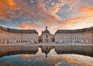 Place de la Bourse à Bordeaux, France
